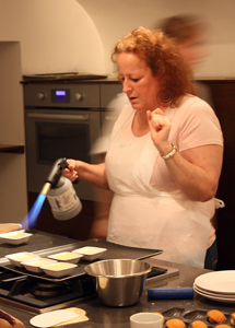 Me trying to torch Creme Brulée